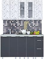 Готовая кухня Интерлиния Арт Мила 19 (арт графит) -