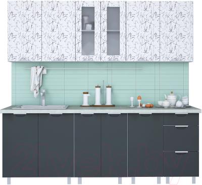 Готовая кухня Интерлиния Арт Мила 22 (арт графит)