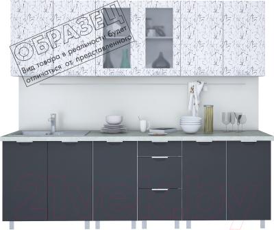 Готовая кухня Интерлиния Арт Мила 26  (арт графит)