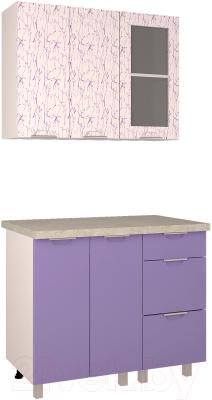 Готовая кухня Интерлиния Арт Мила 10 (арт фиолет)
