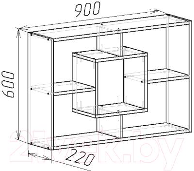 Полка Мебель-Класс Мэдисон-1 (венге/дуб шамони)