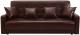 Диван ЛМФ Аккорд книжка 140 с пружинным блоком (темно-коричневый) -