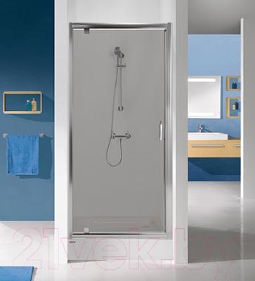 Стеклянная шторка для ванны Sanplast DJ/TX5b-90-S sbW15 (с Glass Protect)
