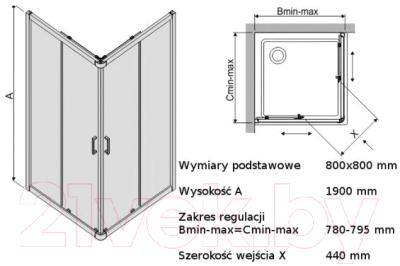 Душевой уголок Sanplast KN/TX4b-90-S sbW14