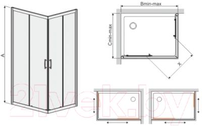 Душевое ограждение Sanplast KN/TX5b-90x120-S sbW0 (с Glass Protect)
