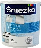 Краска Sniezka Kuchnia i Lazienka с силиконом 800M (2.5л, матовый белоснежный) -