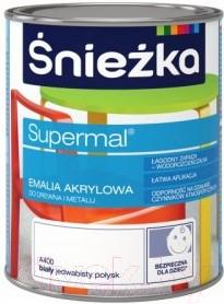 Эмаль Sniezka Supermal акриловая (400мл, белый)
