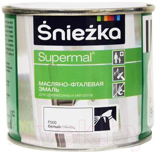 Эмаль Sniezka Supermal масляно-фталевая (400мл, белый глянец)
