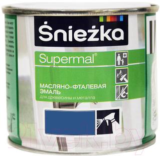 Эмаль Sniezka Supermal масляно-фталевая (400мл, голубой)
