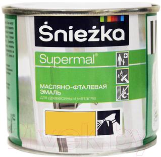 Эмаль Sniezka Supermal масляно-фталевая (400мл, желтый)