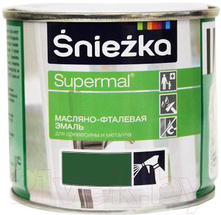 Эмаль Sniezka Supermal масляно-фталевая (400мл, зеленый)
