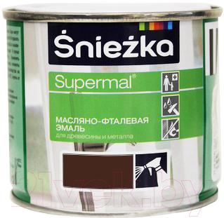 Эмаль Sniezka Supermal масляно-фталевая (400мл, коричневый)