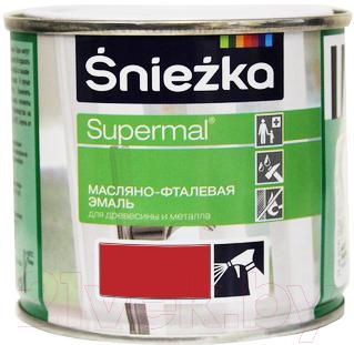 Эмаль Sniezka Supermal масляно-фталевая (400мл, красный)