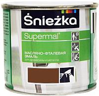 Эмаль Sniezka Supermal масляно-фталевая (400мл, орех средний) -