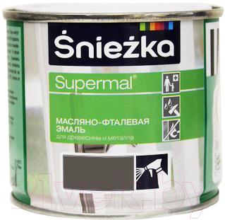 Эмаль Sniezka Supermal масляно-фталевая (400мл, светло-серый)