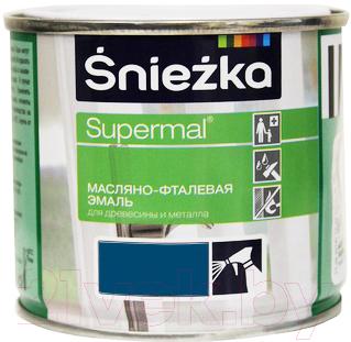 Эмаль Sniezka Supermal масляно-фталевая (400мл, темно-синий)