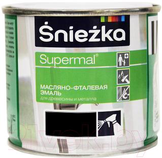 Эмаль Sniezka Supermal масляно-фталевая (400мл, черный)