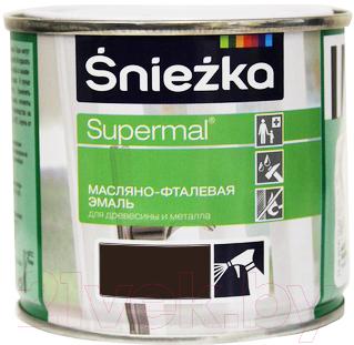 Эмаль Sniezka Supermal масляно-фталевая (400мл, шоколадно-коричневый)