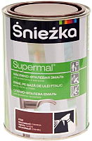 Эмаль Sniezka Supermal масляно-фталевая (800мл, вишневый) -