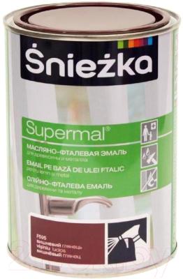 Эмаль Sniezka Supermal масляно-фталевая (800мл, вишневый)