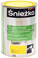 Эмаль Sniezka Supermal масляно-фталевая (800мл, желтый) -