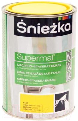 Эмаль Sniezka Supermal масляно-фталевая (800мл, желтый)