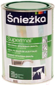 Эмаль Sniezka Supermal масляно-фталевая (800мл, зеленый)