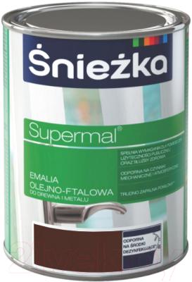 Эмаль Sniezka Supermal масляно-фталевая (800мл, коричневый)