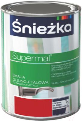Эмаль Sniezka Supermal масляно-фталевая (800мл, красный)