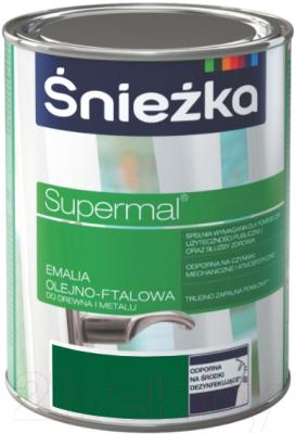 Эмаль Sniezka Supermal масляно-фталевая (800мл, мятно-зеленый)