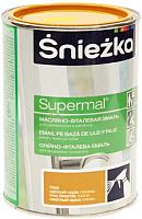 Эмаль Sniezka Supermal масляно-фталевая (800мл, орех светлый) -