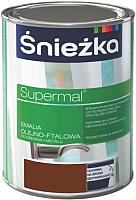 Эмаль Sniezka Supermal масляно-фталевая (800мл, орех средний) -