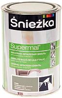 Эмаль Sniezka Supermal масляно-фталевая (800мл, пепельный) -