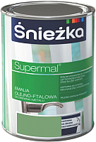 Эмаль Sniezka Supermal масляно-фталевая (800мл, салатовый) -