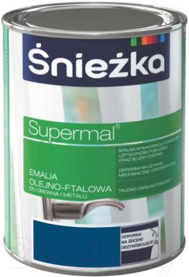 Эмаль Sniezka Supermal масляно-фталевая (800мл, темно-синий)