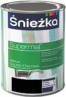 Эмаль Sniezka Supermal масляно-фталевая (800мл, черный матовый) -