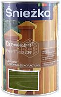 Защитно-декоративный состав Sniezka Древкорн Expert (900мл, зеленый) -