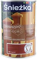 Защитно-декоративный состав Sniezka Древкорн Expert (900мл, красное дерево) -