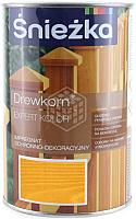 Защитно-декоративный состав Sniezka Древкорн Expert (900мл, сосна) -