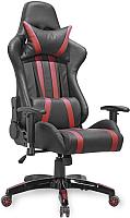 Кресло геймерское Седия Gamer Eco (черный/красный) -