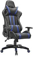 Кресло геймерское Седия Gamer Eco (черный/синий) -