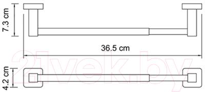 Держатель для полотенца Wasserkraft Lippe K-6522D