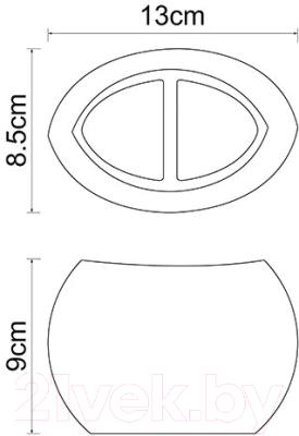Стакан для зубных щеток Wasserkraft Eider K-33328A