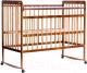 Детская кроватка Bambini Euro Style М 01.10.03 (натуральный) -