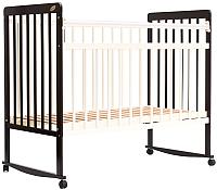 Детская кроватка Bambini Euro Style М 01.10.03 (темный орех/слоновая кость) -