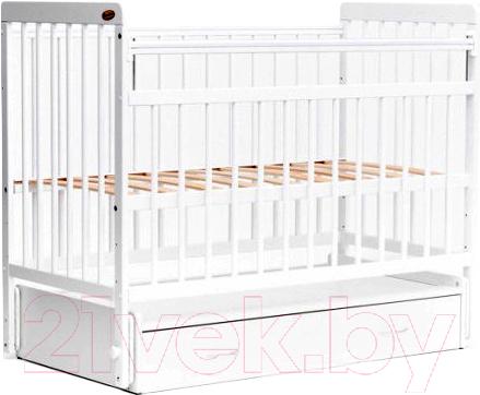Купить Детская кроватка Bambini, Euro Style М 01.10.04 (белый), Беларусь, массив дерева