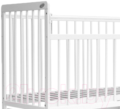 Детская кроватка Bambini Euro Style М 01.10.04 (белый)