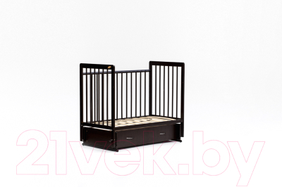 Детская кроватка Bambini Euro Style М 01.10.04 (темный орех)