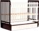 Детская кроватка Bambini Euro Style М 01.10.04 (темный орех/слоновая кость) -