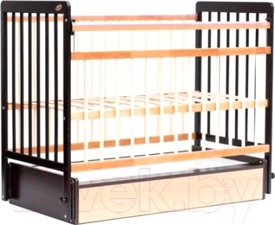 Детская кроватка Bambini Euro Style М 01.10.04 (темный орех/натуральный)